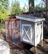 4 x 4 coop painted to match house